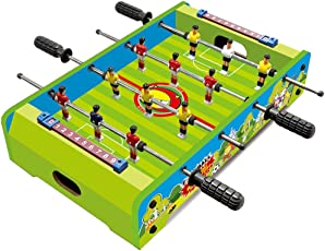 Toyshine Mid-Sized Foosball, Mini Football, Table Soccer Game, 4 Rods, 20-inches (4 Rods, 20 Inch C)
