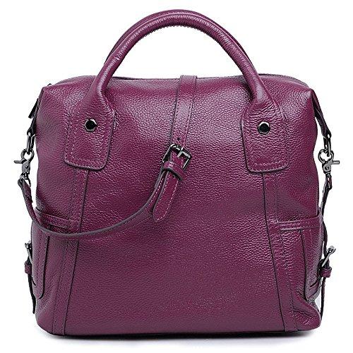 Chlln Leder - Tasche - Handtasche Laptop Tasche Und Einen Neuen Frühling Boten Baotou Damen Leder. Violet