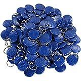 Llaveros genéricos, EM4100,EM4102,125KHz, de proximidad RFID, con identificación, 100unidades de color azul