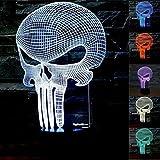 Schädel 3D optische LED Illusion Lampen, FZAI 7 Farbe blinkende Kunst Skulptur Lichter Schlafzimmer Schreibtisch Tisch Nacht Licht Awesome Geschenke
