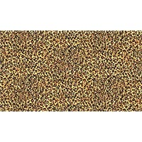 Fat Quarter Safari Leopard Skin Pattern 100% Cotton Quilting Fabric Makower