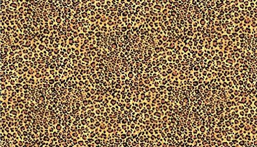 Fat Quarter Safari Leopard Haut Muster 100% Baumwolle Quilten Stoff Makower (Baumwolle Leopard 100%)