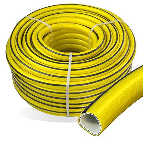 Stabilo-Sanitaer Premium Gartenschlauch Länge: 50m Durchmesser: 13mm Wasserschlauch mit Trikotgewebe | knickfrei | verdrehungsfest