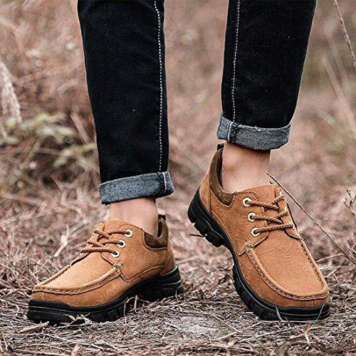 Scarpe outdoor da uomo in pelle opaca scarpe da trekking di grandi dimensioni light brown