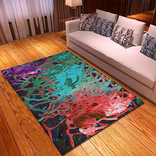 YSX-carpet Rutschfester waschbarer Teppich, weiche Teppichmatte im Wohnzimmer Schlafzimmer, Wohnkultur,M7,5.9ftx3.9ft - Staubsauger Zimmer Im