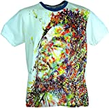 Guru-Shop Weed T-Shirt Bob Marley - Weiß, Herren, Baumwolle, Size:L, Bedrucktes Shirt Alternative Bekleidung