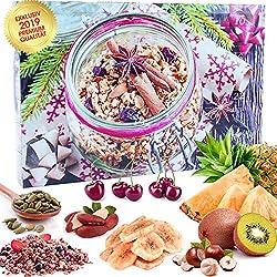 C&T Veganer Fit & Gourmet - Adventskalender 2019 - 24 Vegane, leckere Knabbereien Advent 24 mit Chiasamen, Mandeln, Cashews, Gojibeeren, Cranberries, fast komplett glutenfrei - Weihnachts-Kalender