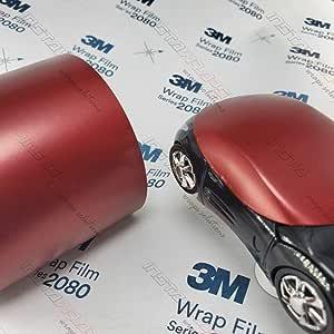 3m 1080 Satin Vampire Red Sp273 Vinyl Car Wrap Film Sample 3in X 5in Auto
