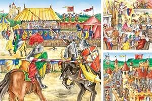 Ravensburger - Puzzle 49 pièces - Le château fort du chevalier