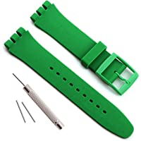 étanche en Caoutchouc de Silicone Bracelet de Montre Watch Band pour Swatch (17 mm X 19 mm 20 mm)