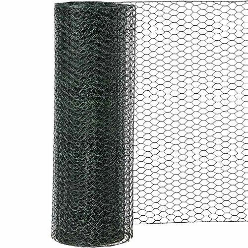 Siena Garden Sechseckgeflecht PVC, 25 x 750 mm x 10 m, 1 Stück, grün, 457570