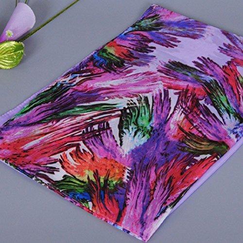 Transer ® Femelle Écharpes,Mode Femmes Long chaud et doux Imprimé Wrap écharpe Mesdames Châle en mousseline de soie Écharpe Écharpes Colorful Violet