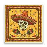 2x Pegatinas de vinilo de azúcar de calavera con sombrero México Festival día de los muertos # 7166