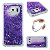 Coque Samsung Galaxy S6 (5,1 pouces) Fluide Écoulement Liquide Sables Mouvant Etui, Meet de Transparent TPU Housse Étui Protecteur Cover Case Souple Ultra Mince Coque pour Samsung Galaxy S6 (5,1 pouces) - Violet