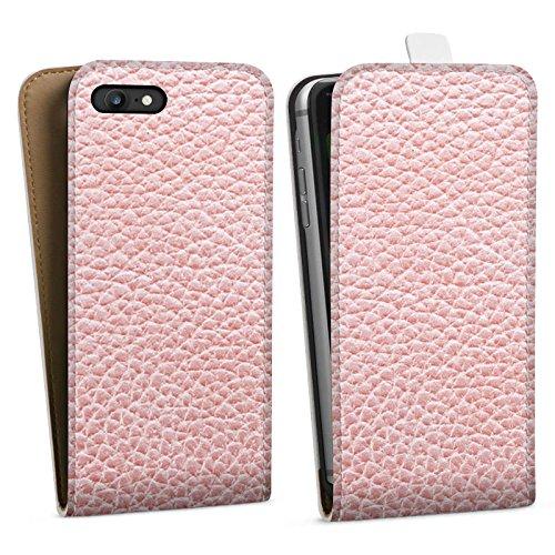 Apple iPhone X Silikon Hülle Case Schutzhülle Leder Muster Struktur Downflip Tasche weiß