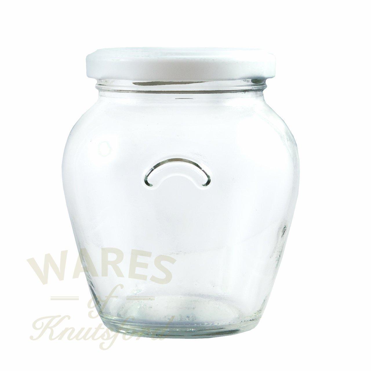 Confezione di 12314ml Gourmet/Orcio Barattoli con una scelta di coperchi colorati, White, 12 pezz