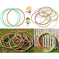 Bargains Hut 75cm/30 Lightweight Hula Hoops Plain Color Kids Adults Exercise Fitness Childrens Family Sport Game Hula Hoop Assorted (10)