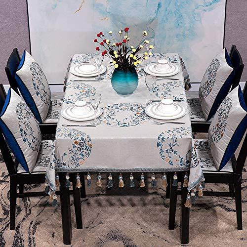 Tischdecke Kunst Tischdecke Wohnzimmer Tee Tischdecke Haus Tischdecke Rechteckige Überdachte Stuhlmatte Esszimmer Garten Dekoriert Wasserdicht Staubdicht Picknick Party Tischdecke 110 X 170 Cm B