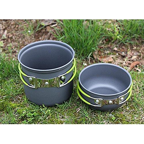 Portable Camping Cooking : Lixada portable outdoor cooking set anodised aluminum non