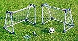 2 JUNIOR SOCCER GOAL SET (74x60x46 cm ) - 2 Fussballtore