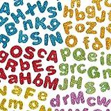 Selbstklebende Schaumstoff-Glitzer-Buchstaben - glitzernd - zum Basteln für Kinder - ideal für Schriftzüge und als Dekoration - 850 Stück