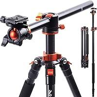 K&F Concept Trepied Appareil Photo 230cm Monopode Trépied Reflex Pied Caméra Vidéo avec Bras Déporté en Aluminium 4…