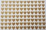 96gold glitzernden selbstklebend Herz Aufkleber