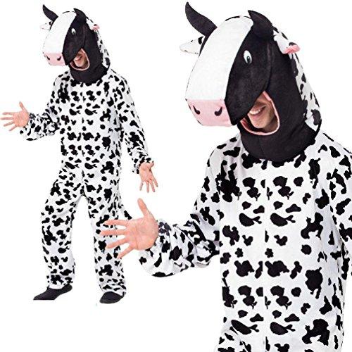 Adult's Cow Costume Farm Animal Teachers World Book Day Week Fancy Dress