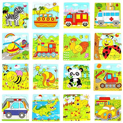 La Cabina Brain Teaser Puzzle 3D Bois Enfant Puzzle de Développement Jouet Puzzle Bois Motif Véhicules et Animaux Multi-style Jouets Educatifs Cadeau pour Enfant(Style Aléatoire)