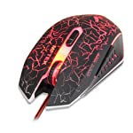 Frabble8 MFTEK USB Wired Gaming Mouse for Laptop Pc Computer with Breathing Changing Colours Led 2000 Dpi 7 Buttons