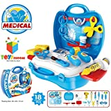 KAGAVD BRAND Kitchen Set / Doctor Set / Beauty Set / Sweet Shop Cart Trolley Toys For Girls & Boys, Multi Color. (DOCTOR SUITCASE, BLUE)
