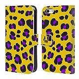 Head Case Designs Leopard Gelb Verrückte Drucke Brieftasche Handyhülle aus Leder für Apple iPhone 5c