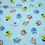 Una pieza 50 cm * 160 cm Lindo Colorido Búho Impreso 100% Tela de Algodón para Ropa de Cama Del Bebé Textil Patchwork Edredón de Tela de Coser por Metros