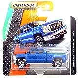 Matchbox Chevrolet Chevy Silverado 1500 2014 blaumetallic 1:64