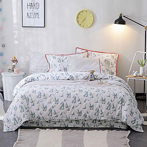 Bestickte Doppel-duvet-set (lausonhouse 100% Baumwolle Druck Bettbezug Set, baumwolle, multi, Queen)