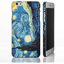 Carcasa para iPhone, diseño de colección de arte clásico de artistas famosos, plástico, Starry Night - Vincent Van Gogh, iPhone 6/6S+ Plus