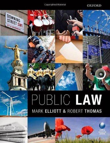 Public Law 1st edition by Elliott, Mark, Thomas, Robert (2011) Paperback