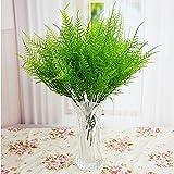 preadvisor (TM) chino características Artificial espárragos helecho hierba plástico verde 7tallos arbustos flores Bonsai Casa Jardín Decoración Floral
