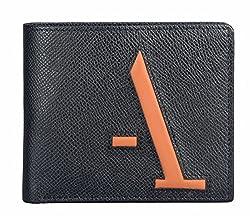 Adamis Black Leather Mens Bi- Fold Wallet