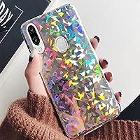 Funda Huawei P20 Lite, Huawei P20 Lite para niñas, ikasus Slim Luxury Glitter Sparkle Bling Cute Case con Rave Holographic Laser Gorgeous Brillante Flexible Goma TPU Funda para Huawei P20 Lite,
