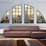 murando - Fototapete 400x280 cm - Vlies Tapete - Moderne Wanddeko - Design Tapete - Wandtapete - Wand Dekoration - Fenster Stadt c-C-0002-a-a
