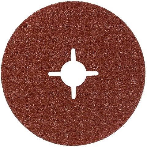 Bosch 2 609 256 250 - Juego de discos lijadores de fibra de 5 piezas para amoladora angular,