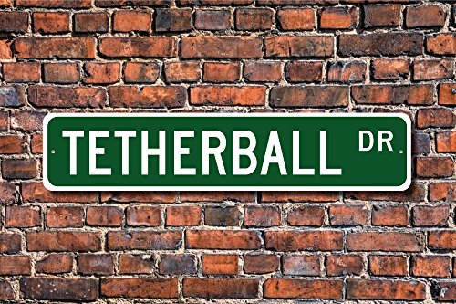 (Aersing Home Decor Tetherball Schild Tetherball Fan Geschenk Tetherball Player Spielplatz Spiel Metall Schild für Outdoor Nutzung Innen Street)