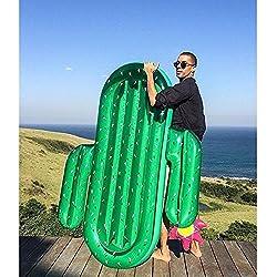 Flotador Hinchable cactus flotante de drenaje en la Ride adultos cama flotante natación sandía cama más grueso doble globo nadador
