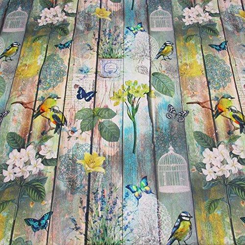 werthers-stoffe-tissu-au-metre-coton-motif-mur-en-bois-avec-oiseaux-et-fleurs-style-shabby-chic-phot