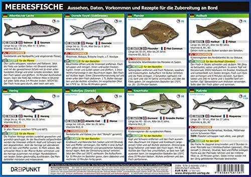 Info-Tafel-Set Meeresfische: Aussehen, Daten, Vorkommen und Rezepte für die Zubereitung an Bord.