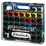 Airbrush Farben Set Schmincke Aero Color Professional Koffer Basis 37 x 28 ml + 125ml Clean Rapid Reinigungsmittel