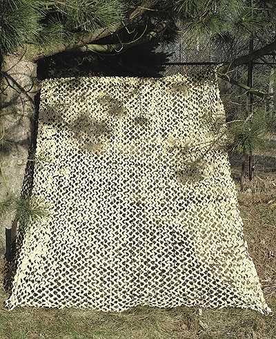 Camosystems - Rete per mimetizzazione militare, 3x2,4 m, colore: Marrone chiaro