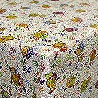 ANRO Hule Cera Mantel encerado mantel mantel búho multicolor tamaño a elegir, plástico, sättige, beständige Farben, 180 x 140cm