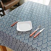 GXX Tessuto blu marino giapponese tovaglia vintage/ bella in fresca cotone/ Giappone il panno tradizionale arte povera/panno che copre-B 135x135cm(53x53inch)